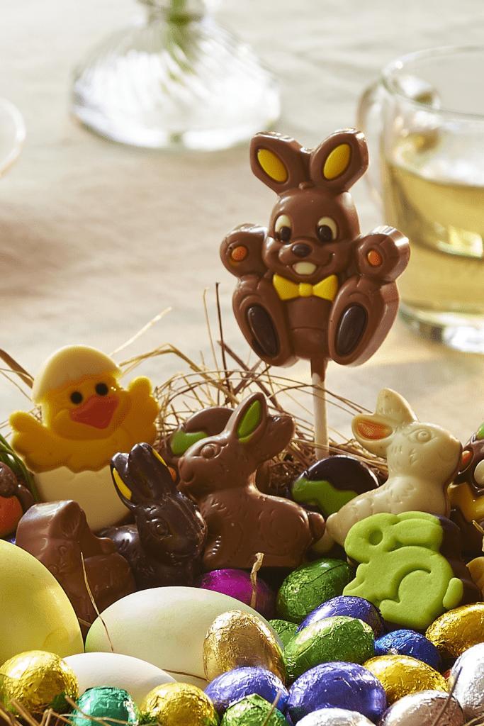 Martinez chocolade pasen lollies, kuikens, marsepein